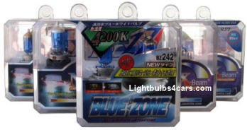 Blue color xenon bulbs